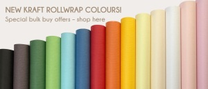 Kraft roll wrap by Flamingo Paperie